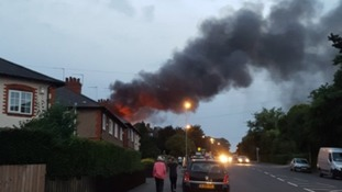 Fire crews at scene of large fire in Northampton
