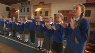The signing choir of Porthleven Community Primary School