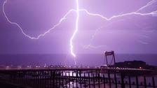 Lightning striking the Spinnaker Tower in Portsmouth