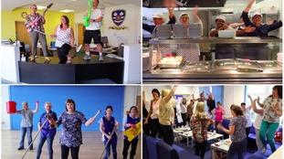 Top Class: Staff at Fleetwood school film fun music video for MADD week