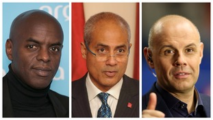 From left to right: Trevor Nelson, George Alagiah and Jason Mohammad.