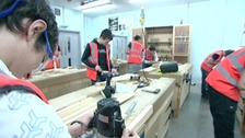 Young people training for work in the construction industry