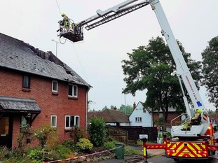 The house in Bradwell was struck by lightning