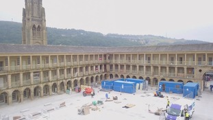 Work continuing inside the Halifax Piece Hall