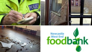Newcastle food bank to reopen after vandalism