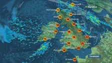 Weather: Unsettled at times over the coming days