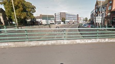 The man reportedly fell onto St Nicolas Place underpass in Leicester