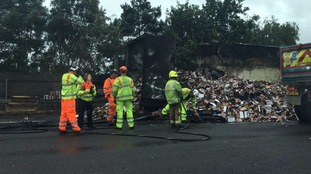 Traffic meltdown after lorry carrying chocolate goes up in flames