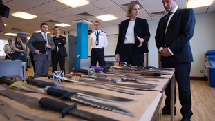 Crimes involving knives also increased last year.