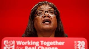 Labour's Diane Abbott slammed the figures as 'damning'.