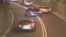 Watch: Shocking CCTV footage of drivers racing in Tyne Tunnel
