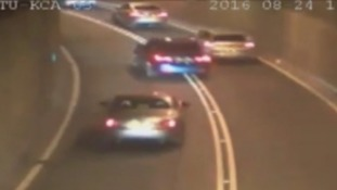 Watch: Shocking CCTV footage released of drivers racing in Tyne Tunnel