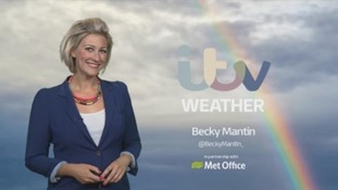 Improving across eastern areas but turning wet and windy overnight
