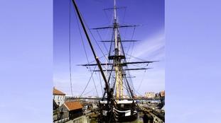 Conservation work on centrepiece HMS Trincomalee