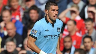Aleksandar Kolarov, became involved in a heated exchange with a spectator before coming on as a substitute at St James' Park
