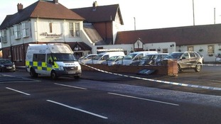 The Wheatsheaf pub in Benton, scene of the shooting.