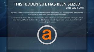 Largest online dark web illegal market AlphaBay shut down