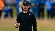 Tommy Fleetwood during the first round of The 146th Open Championship golf tournament at Royal Birkdale Golf Club.