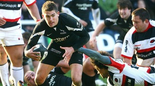 Toby Flood playing for the Falcons back in 2008