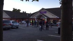Ceiling collapses at banqueting suite