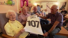 Celebrations for 107-year-old Derby County superfan