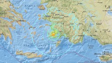 Two dead after powerful earthquake hits Turkey and Greek islands