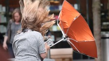 Severe weather warning: rain and high winds