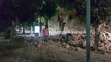 Two dead and dozens injured after earthquake hits Turkey and Kos