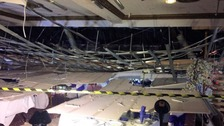 Children injured after ceiling collapses during school prom
