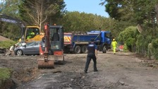 Coverack: main road into flood hit village will reopen next week