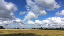 Cumulus clouds near Lincoln