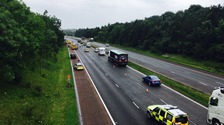 Three-vehicle road crash on M6 causes traffic delays