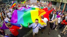 Newcastle Pride brightens up the city centre