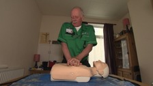 David Knowles suffered a heart problem whilst he was delivering a first aid training session.