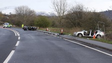 Calum Wilkinson's car is the dark-coloured car in the centre of the photograph.