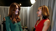 The Duchess of Cambridge and Jessica Ennis after the Sports Personality of the Year Awards