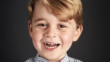 Prince George hailed a 'happy little boy' in birthday photo