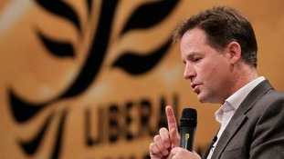 Nick Clegg is due to deliver his speech this morning
