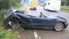 Man who caused A12 crash handed suspended sentence