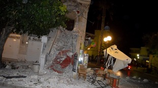 The aftermath of the earthquake on Kos