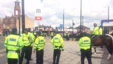 Heavy police presence for march through Rochdale