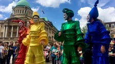Thousands attend UK's first national pride event in Hull