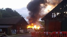 Fire at Lawrence Weston Community Farm