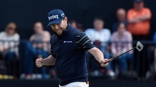 Branden Grace cards first 62 in men's major championship history at the open