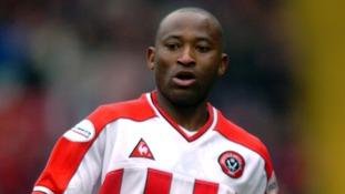 Peter Ndlovu seen playing for Sheffield United