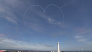 Red Arrows' second heart dedicated to Chloe and Liam