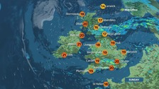 Weather: Sunny spells and heavy showers