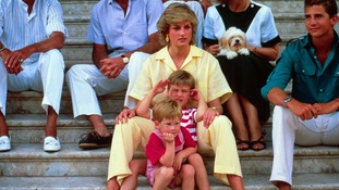 The young princes on a family holiday in Majorca in 1987.