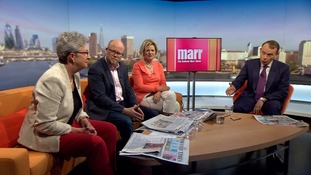 Presenter Andrew Marr discussed his own salary on his Sunday morning show.
