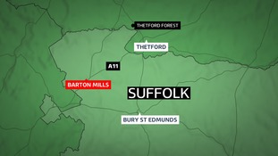A man died in the crash at Barton Mills.